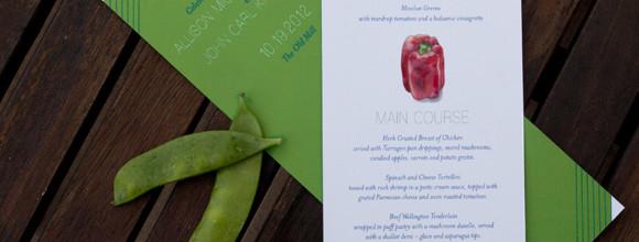 Spring Vegetables: Two Peas Menu