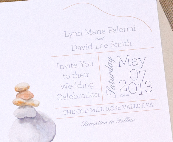 Rock Sculpture Invitation zoom by Hand-Painted Weddings