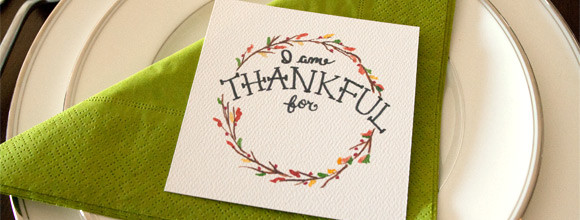 Free Printable Download – Hand-Painted Thankful Cards