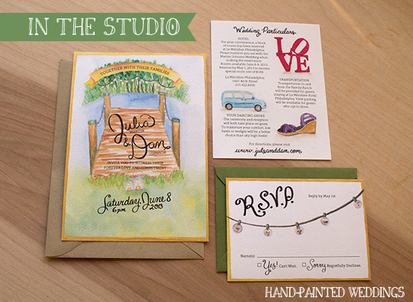 Julia and Dan Invitation by Hand-Painted Weddings
