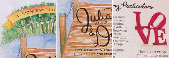 In the Studio: Julia and Dan's Invitations