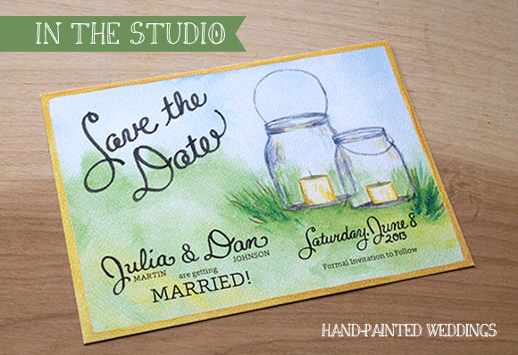 In the Studio: Julia and Dan's Save-the-Date