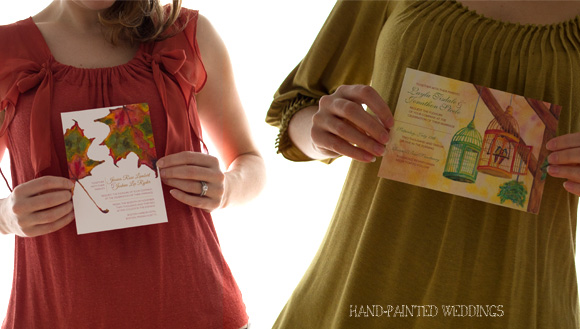Wedding Invites Fashion Styling by Hand-Painted Weddings
