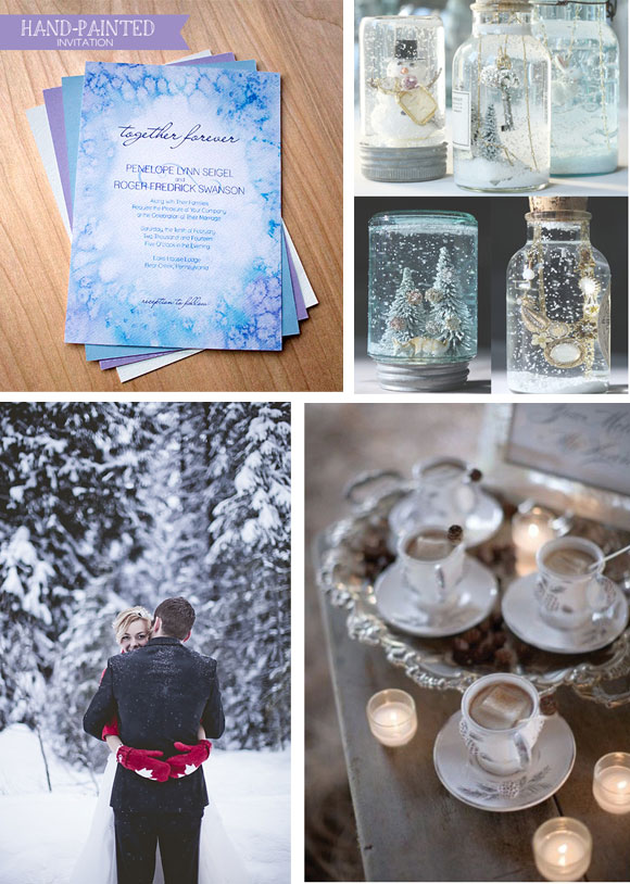 Winter Frost Reception curated by Hand-Painted Weddings