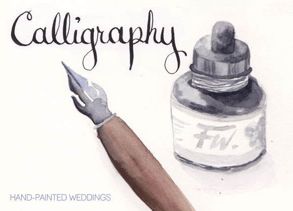 Calligraphy Tools by Hand-Painted Weddings