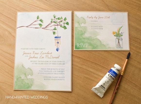 Superb Backyard Charm Invitation By Hand Painted Weddings