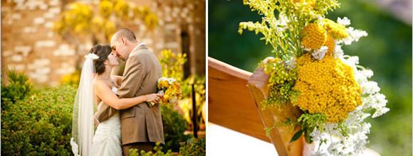 Hand-Painted Flower Vine Wedding