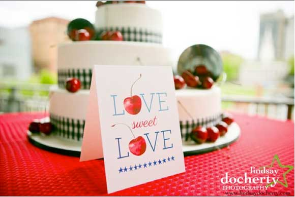 Fourth of July Wedding. Stationery by Hand-Painted Weddings.