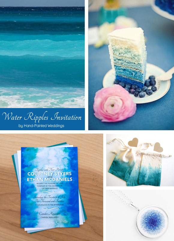 Water Ripples Reception Curated By Hand Painted Weddings
