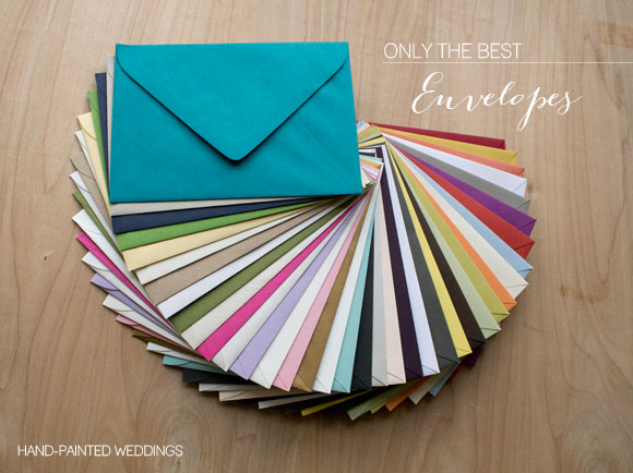 Envelopes available at Hand-Painted Weddings