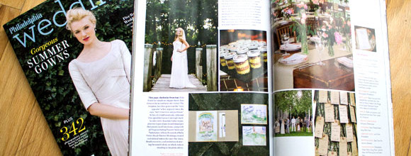 Hand-Painted Weddings in Philadelphia Wedding Magazine!