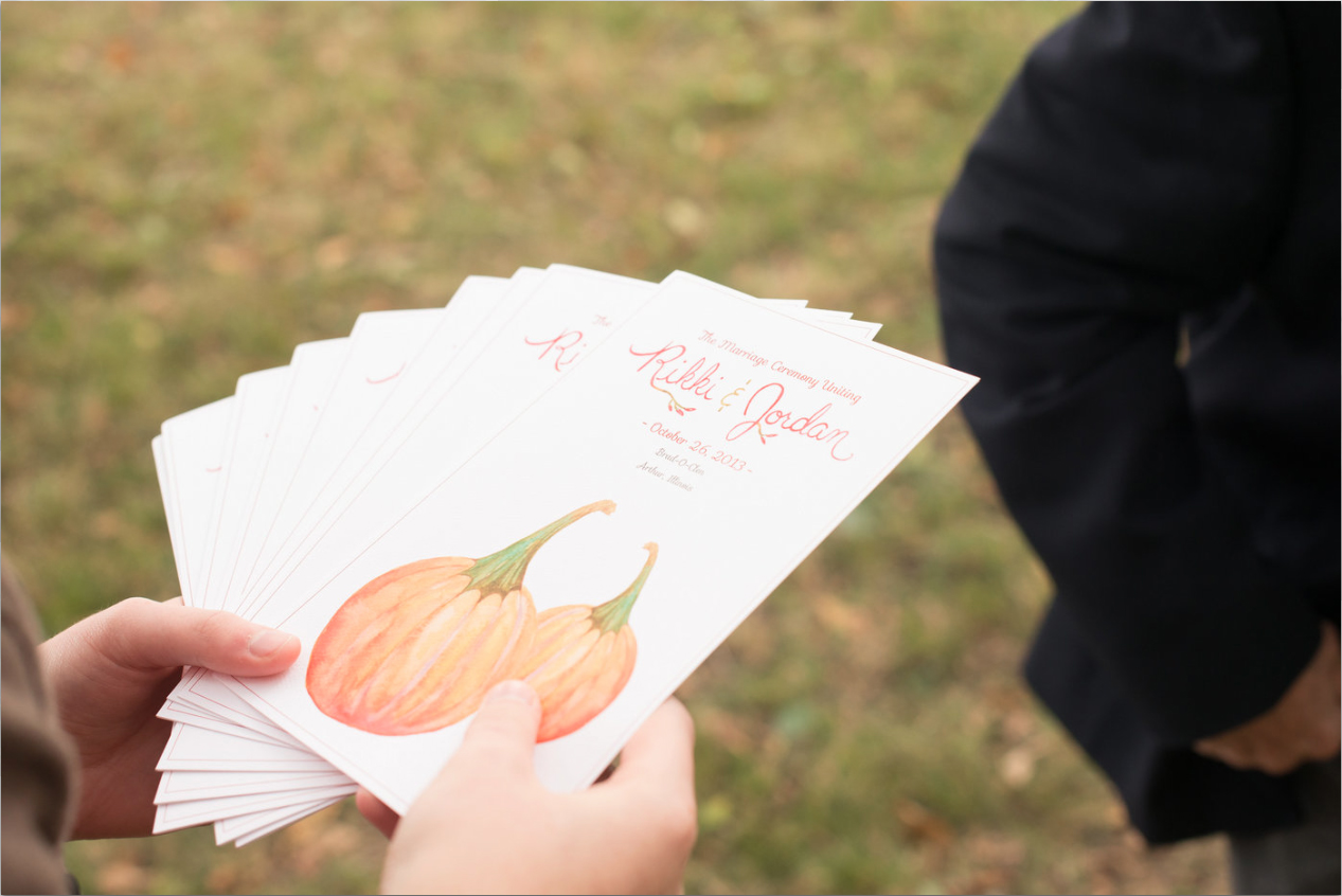 Pumpkin Program by Hand-Painted Weddings