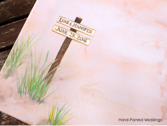 Jeannette's Pier Custom print by Hand-Painted Weddings