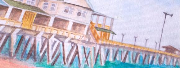 Jennette's Pier Custom Thumbprint Guest Print