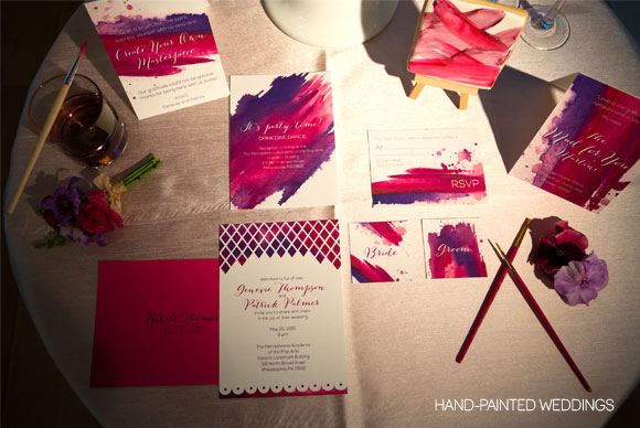 Truly a Painterly Touch – Modern Gallery Wedding