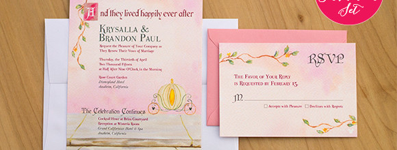 Vow Renewal Invitation set based on the Cinderella Invitation