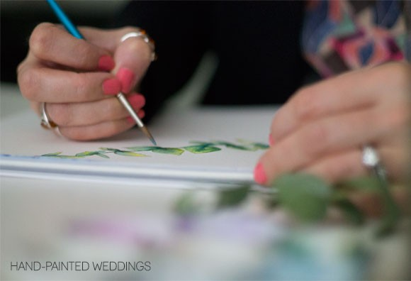 Hand-Painted Weddings Work in Progress