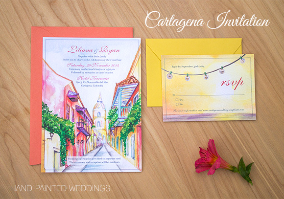 Cartagena Wedding posted on Hand-Painted Weddings. P