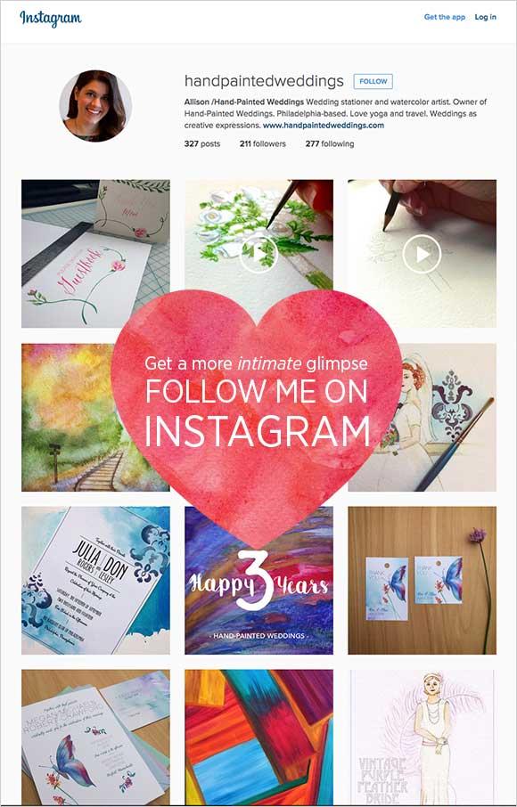 Hand-Painted Weddings on Instagram