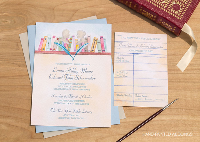 Literature Wedding Invitation by Hand-Painted Weddings