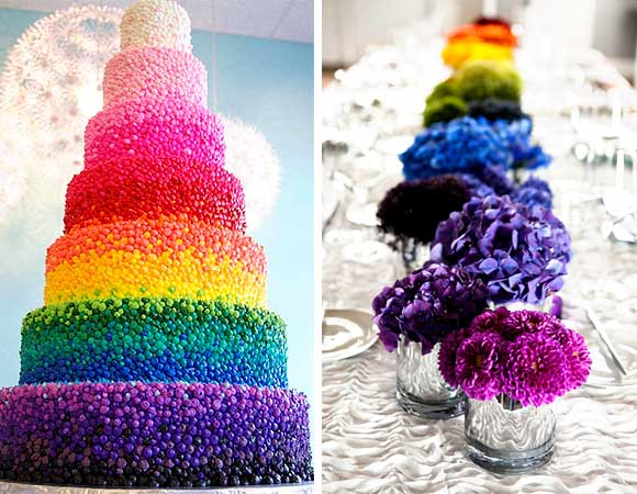 Gay Pride Rainbow Wedding curated by Hand-Painted Weddings
