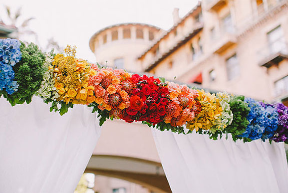 Gay Pride Wedding Inspiration curated by Hand-Painted Weddings