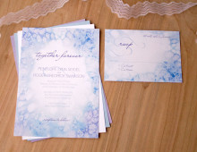Winter Frost Wedding Invitation by Hand-Painted Weddings