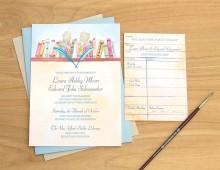 Literature Wedding Invitation by Hand-Painted Weddings