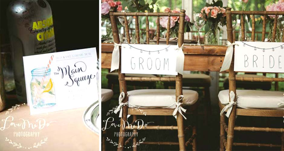 Backyard Wedding signs by Hand-Painted Weddings