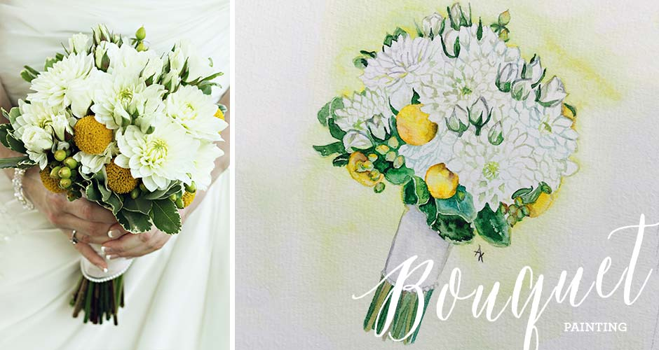 Bouquet Painting by Hand-Painted Weddings