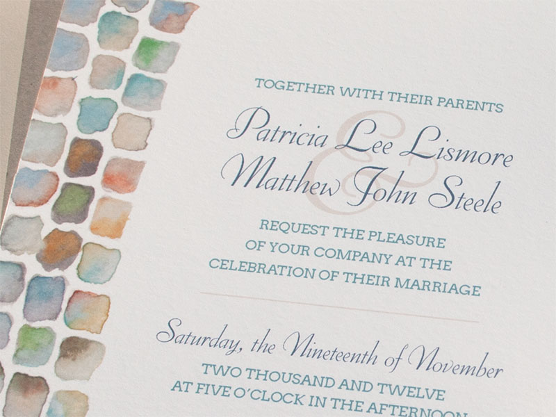 Hand-Painted Invitation: Cobblestone