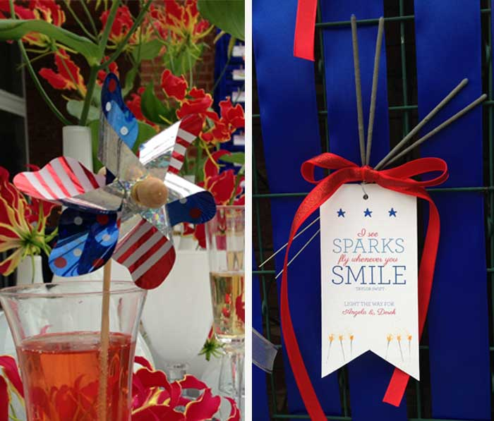 Fourth of July Wedding posted on Hand-Painted Weddings