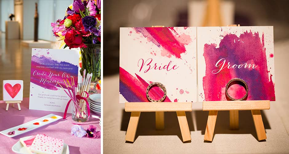 Art Gallery Wedding signs by Hand-Painted Weddings