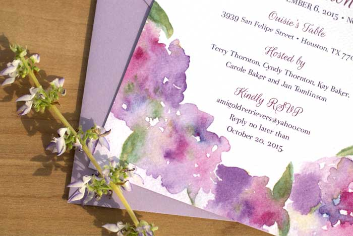 Watercolor Flower Bridal Shower Invitation