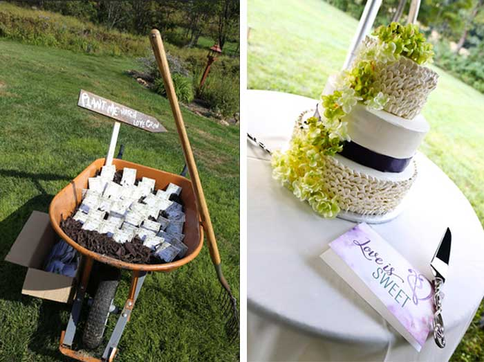 Country Backyard wedding - DIY and personal touches - Hand-Painted ...