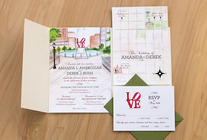 philly-wedding-invitation-set