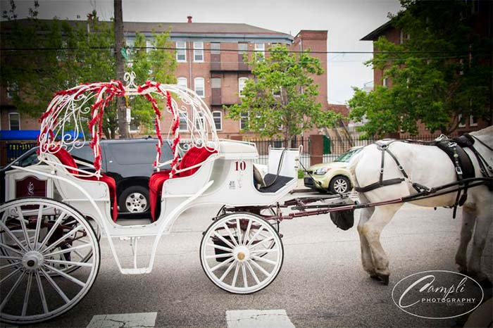 Philly wedding horse and carriage ride