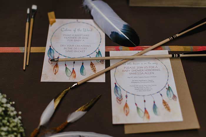 Tribal Dreamcatcher Inspired Baby Shower on Hostess with the Mostess