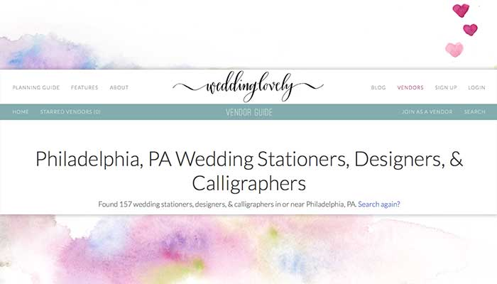 Wedding Lovely Philadelphia Wedding stationery introduction