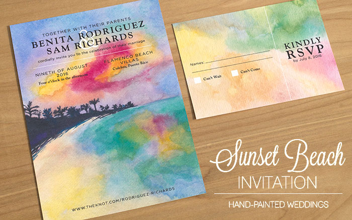 Painted Wedding Invitations: Watercolor Wedding Invitations