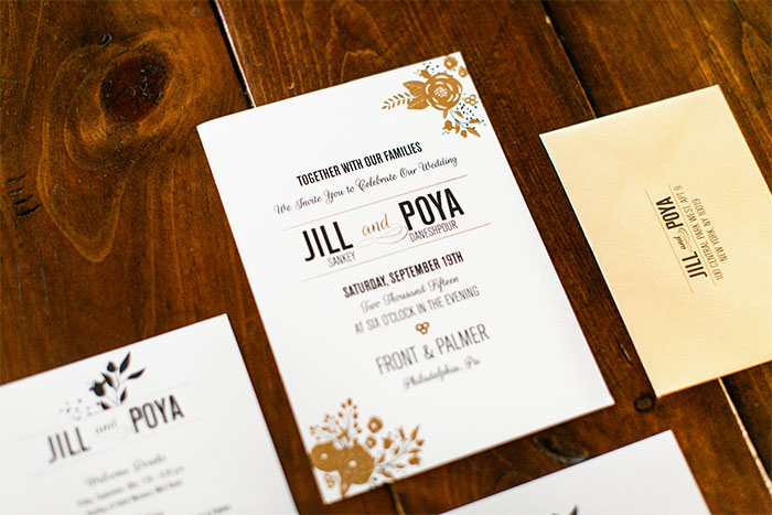 Front_Palmer_gold_foil_wedding_1