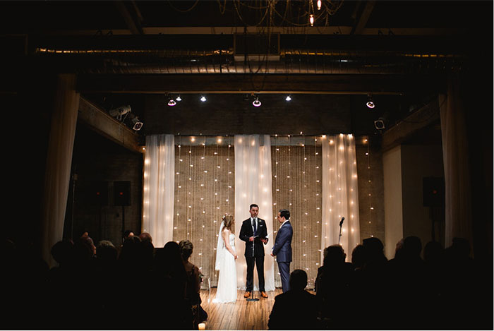 Rustic, gold foiled wedding at Front and Palmer