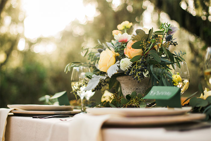 Whimsical wedding, Dreamy wedding inspiration. Posted on Hand-Painted Weddings. Photo by Katie Ricard