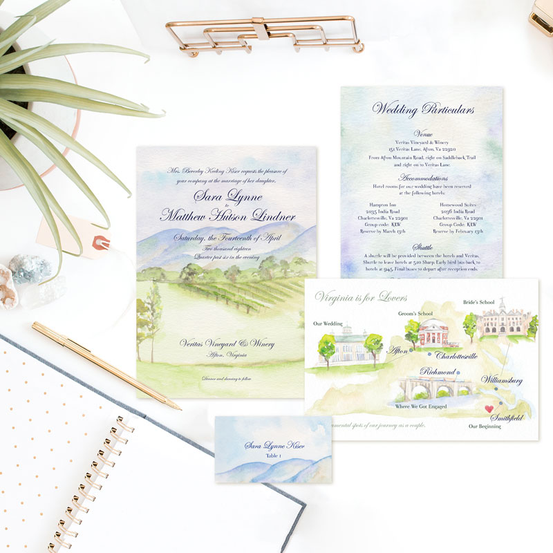 Veritas Villa Wedding Invitation