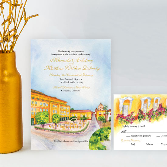 Cartagena Wedding Invitation