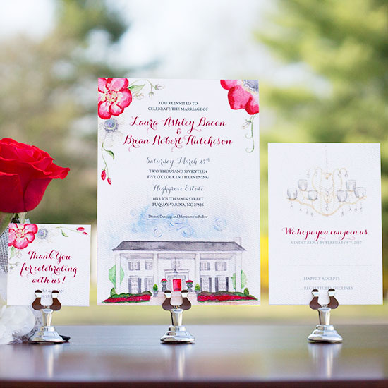 North Carolina Classic Wedding Invitation