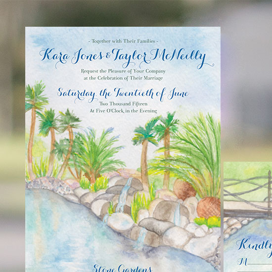 San Diego Wedding Venue Illustration
