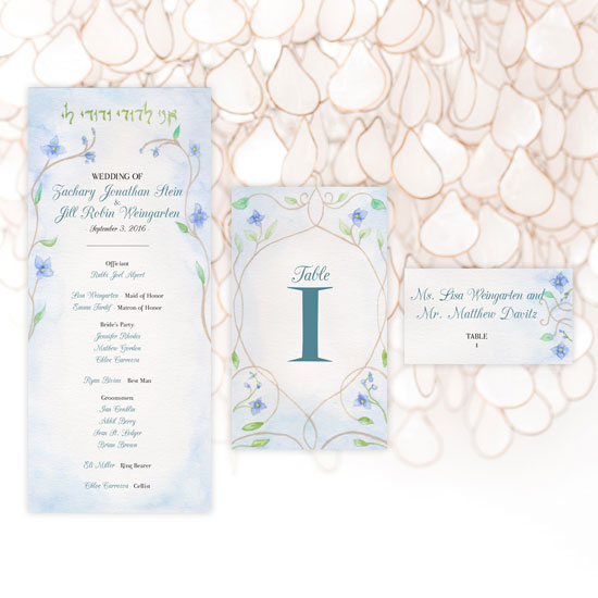 Jewish Wedding Program and Storybook Wedding