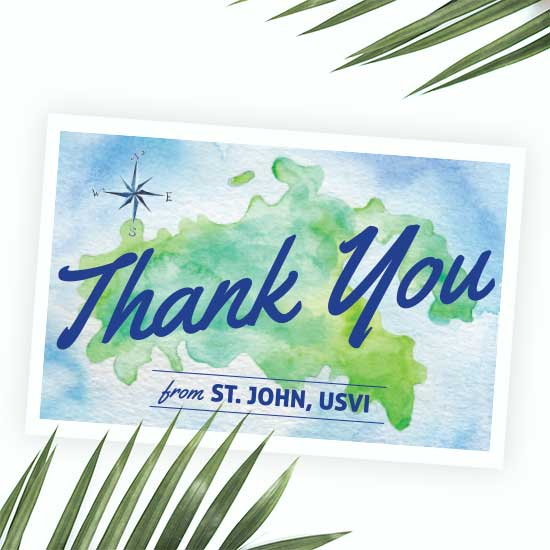 Destination Wedding Thank You Postcard