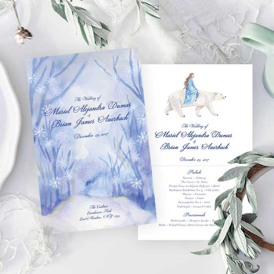 Winter Wonderland Ceremony Program